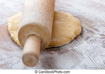 dough in hands close up