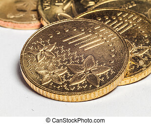 Gold Coins Close-up