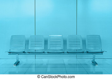 Row of chair in modern office building