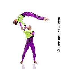 flexible, gimnastas, amaestrado, engaños, estudio