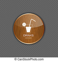Drink wood application icons