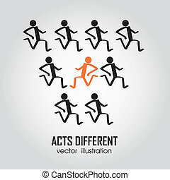 Acts different