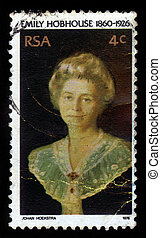 Emily Hobhouse - SOUTH AFRICA - CIRCA 1976: A stamp printed...