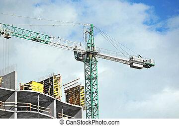 żuraw, Zbudowanie, umiejscawiać