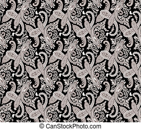 Seamless paisley background. - Seamless paisley illustration...