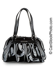 Elegant woman black bag - Fashionable woman black bag...