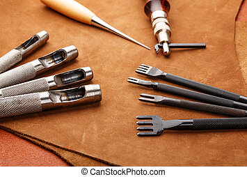 Leather craft hand tool