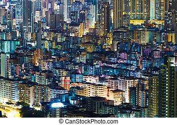 Hong Kong cityview at night