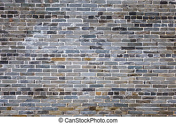 Ancient gray brick wall