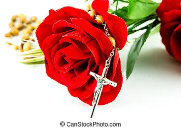 rosario, rosa