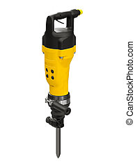 Jackhammer - Powerful jackhammer on a white background