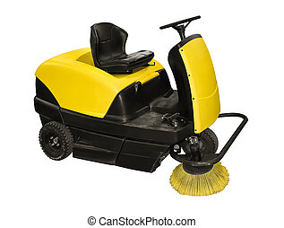 Sweeper - Yellow sweeper on a white background