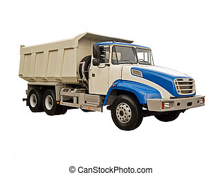Big lorry on a white background