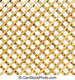 lattice - wooden lattice. Isolated on white.