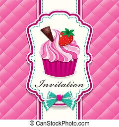 Vintage cute cupcake poster