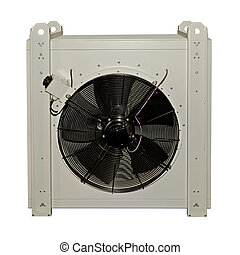 Industrial air conditioner on a white background
