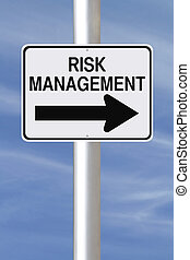 Risk Management - A modified one way street sign on risk...