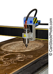 CNC Router on a white background