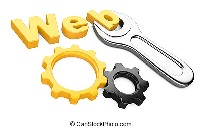 """spanner and inscription """"Web site"""""""