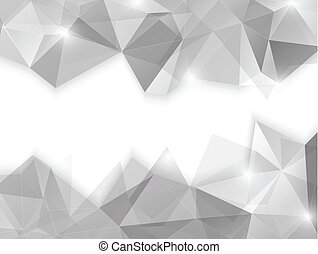 Abstract geometric background in gray color