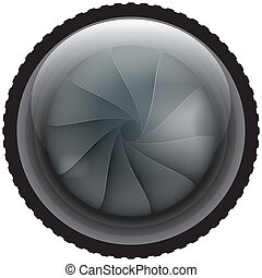 lens isolated illustration eps 10 abstract form