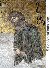 Wall in Hagya Sophya - Mosaic on the wall of Hagya Sophya,...