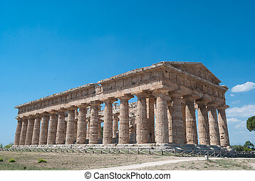 Acropolis of Paestum. One of the most important Archeologic...