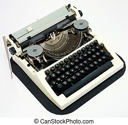 Typewrite - Old ancient typewriter on a white background