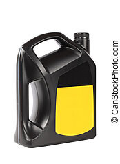 engine oil bottle - black plastic bottle of engine oil