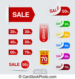 Sales badge, sticker vector design. Discount sale...