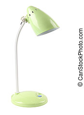 desk lamp - a light green reading desk lamp isolated on...