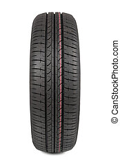 radial tire isolated on white