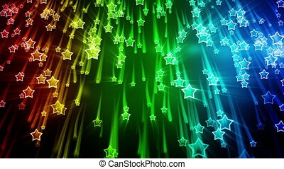 colorful stars falling loop - colorful stars falling....