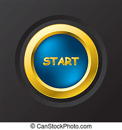 Blue start button