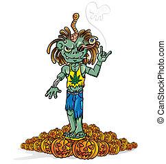 zombie rock cartoon