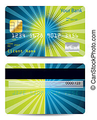 Halftone with burst credit card design - Halftone with burst...