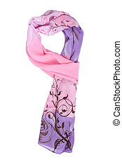 scarves - a beautiful silk scarf isolated on white