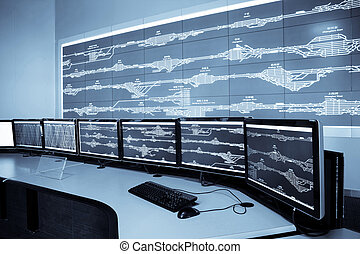 railway control room - developed technology inside the...