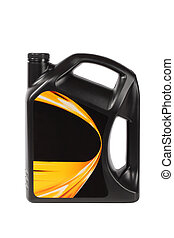 motor oil bottle - black plastic bottle of motor oil with...