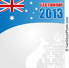 australian electoin day background with emblem