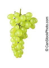 green grape with white background