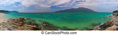 Panorama of the tropical - High resolution panoramic image...