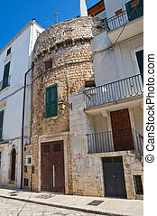 Fortified tower. Conversano. Puglia. Italy.