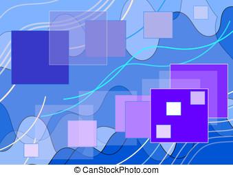 Błękitny, kwestia, tło, kwadraty, skład
