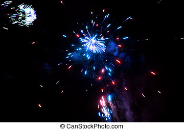 antastic colorful fireworks with black copyspace, perfect...