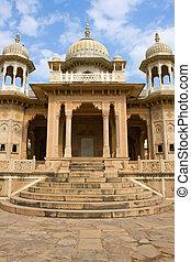 gatore,  Jaipur,  ki,  chhatriyan, Inde,  Rajasthan