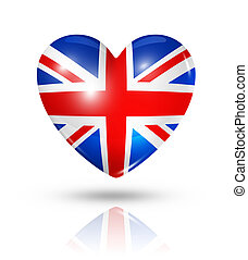 Love United Kingdom, heart flag icon - Love United Kingdom...