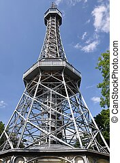 Petrin Lookout - Petrin lookout tower in the beautiful...