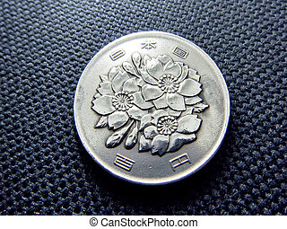 100 japanese yens coin - Japanese money, silver coin one...