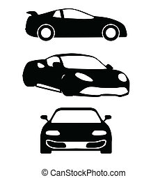vector cars silhouettes